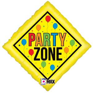 Party Zone Sign Foil Balloons