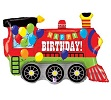 Birthday Party Train Foil Balloons