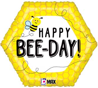 Happy Bee Day Foil Balloons