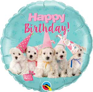 Birthday Puppies Studio Pets Foil Balloons
