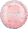 Birthday Princess Foil Balloons