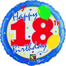 Happy 18th Birthday FM Foil Balloons