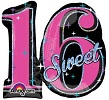 Sweet 16 Sparkling Balloon Shape