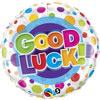 Good Luck Color Dots Foil Balloons