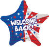 Welcome Back Patriotic Foil Balloons
