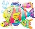 Tropical Fish Cluster Foil Balloons
