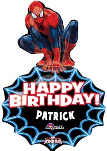 Spiderman Birthday Personalized Foil Balloon