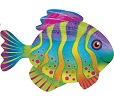Colorful Fish Balloon Shape