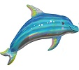 Iridescent Dolphin Balloon Shape