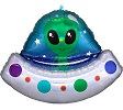 Alien Space Ship Balloon Shape