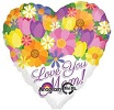Love You Mom Jumbo Foil Balloon