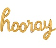 'hooray' Gold Script Balloon