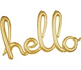 'hello' Gold Script Balloon
