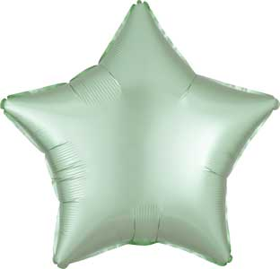 19 inch Mint Pastel Satin Star Foil Balloons