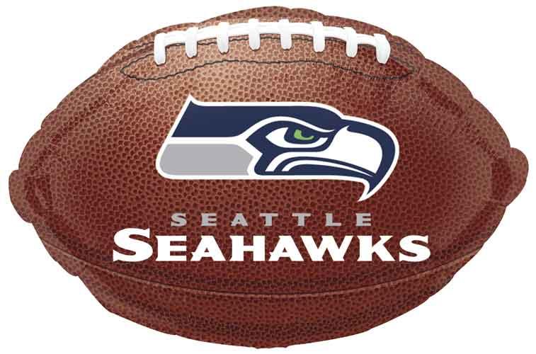 the best attitude b06d5 5b855 Seattle Seahawks Football Foil Balloons