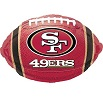 San Francisco 49ers Football Foil Balloons