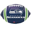 Seattle Seahawks Blue Football Foil Balloons