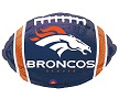 Denver Broncos Football Foil Balloons
