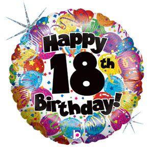 18 år grattis 18th Birthday Foil Balloons 18 år grattis