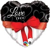 Love You Red Ribbon Jumbo Foil Balloon