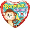 Bananas About You Foil Balloons