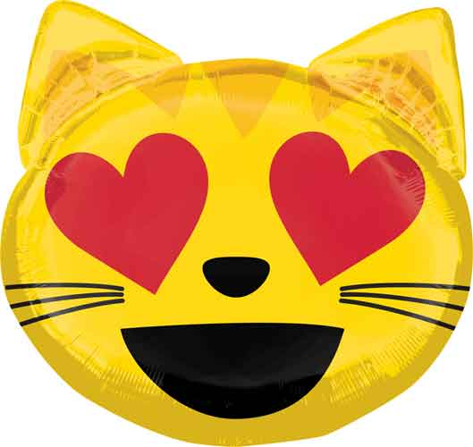 Emoji Love Cat Balloon Shape