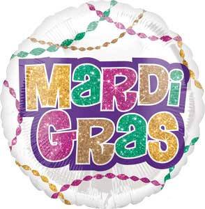 Mardi Gras Party Foil Balloons