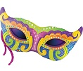 Mardi Gras Mask Balloon Shape