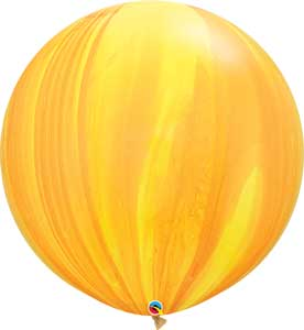 30 Inch Yellow Orange Agate Balloons