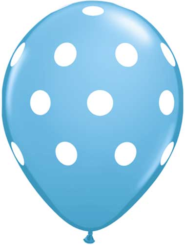 graphic about Balloons Printable referred to as Substantial Polka Dots Robins Egg Blue Wholesale Balloons