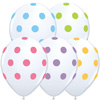 Big Polka Dots On White Balloons