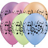 Music Notes Neon Assorted Balloons