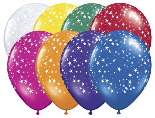 "5 x Diamond Clear Stars-A-Round Qualatex 16/"" Balloons"