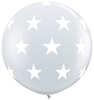 Big Stars Diamond Clear Balloons