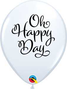 Simply Oh Happy Day White Latex Balloons