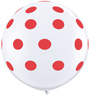 Big Standard Red Polka Dots on White