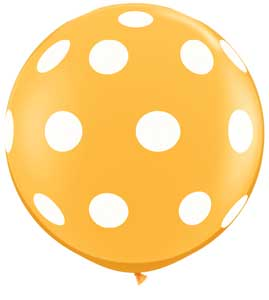 Big Polka Dots on Goldenrod (36 inch)
