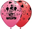 Mickey & Minnie I Love You Assorted Balloons