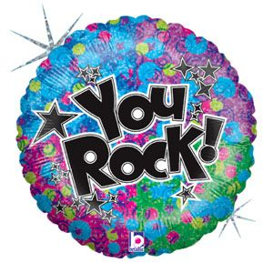 You Rock (holographic) Foil Balloons