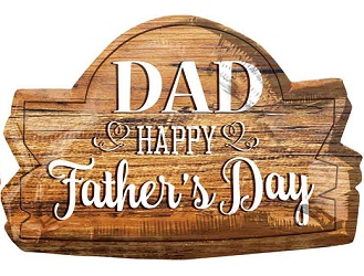 Father's Day Wood Marquee Balloon Shape