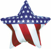 Patriotic Star Foil Balloon