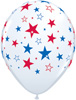 Red and Blue Stars Latex Balloons