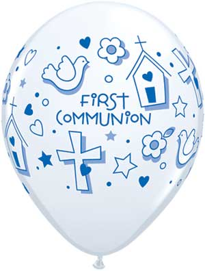 First Communion Girl Latex Balloons