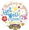 Singing Get Well Foil Balloons