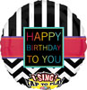 Singing Birthday Chevrons Foil Balloon
