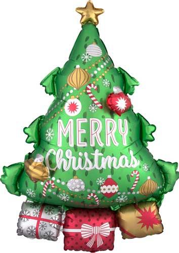 christmas tree with garland shape - Christmas Tree With Garland