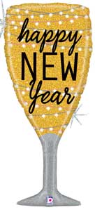 New Year Champagne Glass Balloon Shape