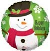 Snowman With Snowflakes Foil Balloons