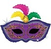 Mardi Gras Feather Mask Shape